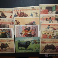 Postales: LOTE DE 13 POSTALES ILUSTRADAS POR LOS PINTORES J. REUS Y TUSER. TEMA TAURINO. Lote 45508468