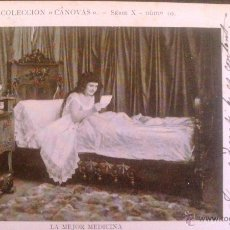 Postales: LA MEJOR MEDICINA, COLECCION CANOVAS SERIE X Nº 10.. Lote 45759309