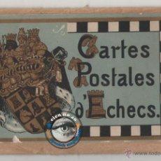 Postales: CARTES POSTALES D'ECHECS ~ AÑO 1910 ~ 11 POSTALES DE AJEDREZ CON EL SOBRE ORIGINAL SIN CIRCULAR. Lote 46042410