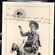 Cartes Postales: TARJETA POSTAL COLECCION CANOVAS. BARAJA DE CARTAS Nº 11. Lote 46320232