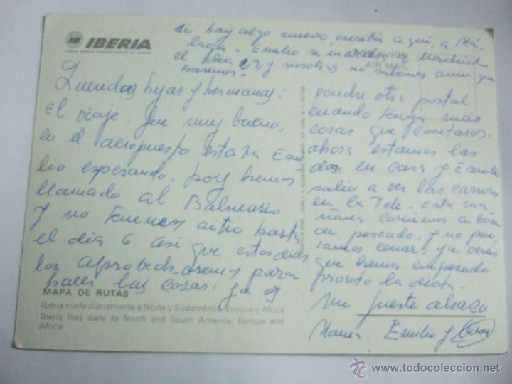 Postales: POSTAL IBERIA - MAPA DE RUTAS - RUAN 1968 - ESCRITA SIN CIRCULAR - Foto 2 - 46352645