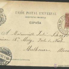 Postales: POSTAL CIRCULADA EN 1897 - SELLO PELON -BARCELONA PLAZA REAL - (26927). Lote 46400278
