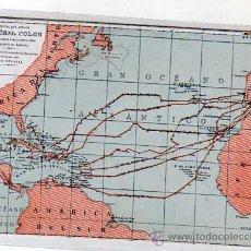 Postales: POSTAL MAPA CRISTOBAL COLON. OTTO NEUSSEL. M. PALOMEQUE. MADRID. SIN CIRCULAR.. Lote 46658895