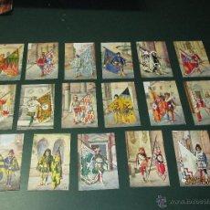 Postales: ANTIGUA POSTALES SERIE COMPLETA DE 17 BANDERAS Y PORTABANDERAS DEL PALIO DE SIENA - AÑO 1940S.. Lote 46930914