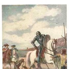 Postales: POSTAL: DON QUIJOTE Y EL CABALLERO DE LA BLANCA LUNA. ED. PALOMEQUE, MADRID. SIN CIRCULAR. Lote 47544537