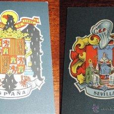 Postales: LOTE 54 POSTALES BLASONES DE ESPAÑA - COL. HERALDICA - MUY BUEN ESTADO.. Lote 48215103