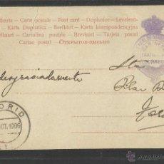 Postales: CARTERIA - DIRECCION GENERAL DE CORREOS - GABINETE PARTICULAR CORREO - AÑO 1906 - (30738). Lote 48650162