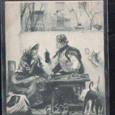 Postales: TARJETA POSTAL. EL CONSEJERO DEL BARRIO. 556. HAUSER Y MENET. 1900. VER DORSO. Lote 48727356