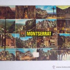 Postales: CURIOSA POSTAL DE MONTSERRAT (SE ABRE UNA VENTANA CENTRAL Y SALEN 13 PEQUEÑAS FOTOS EN ACORDEÓN). Lote 48844328