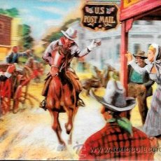 Cartes Postales: POSTAL STEREORAMA * EL TELÉGRAFO A CABALLO * ( LE TELEGRAPHE A CHEVAL) VISIORELIEF. Lote 48938593