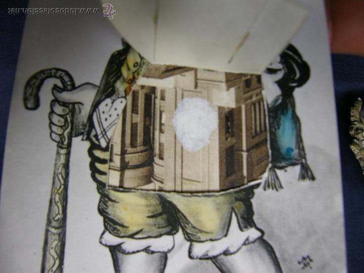 Postales: postal con ventana ver madrid levante alforjas lo llevo dentro 30 M P 1934 - Foto 2 - 49113660