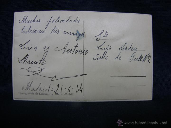 Postales: postal con ventana ver madrid levante alforjas lo llevo dentro 30 M P 1934 - Foto 3 - 49113660