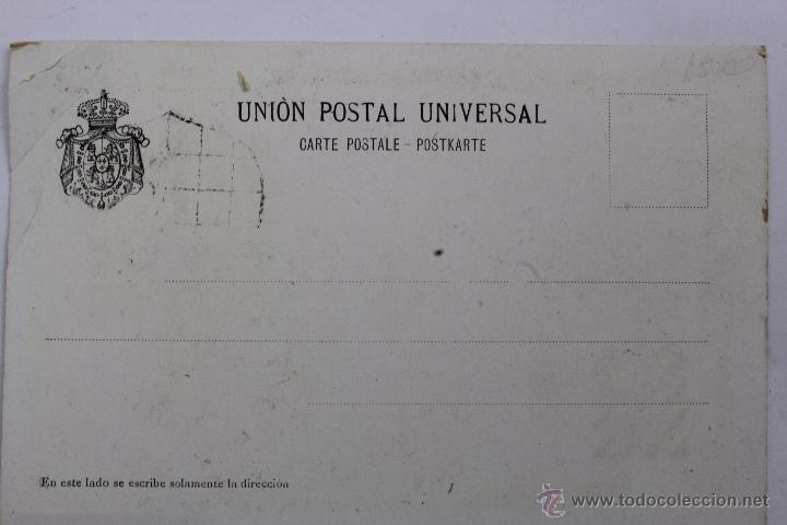 Postales: P-1346. POSTAL APELLIDOS PATRONIMICOS. LITOGRAFIA BARREDO. MADRID. ALVAREZ. - Foto 2 - 49399471