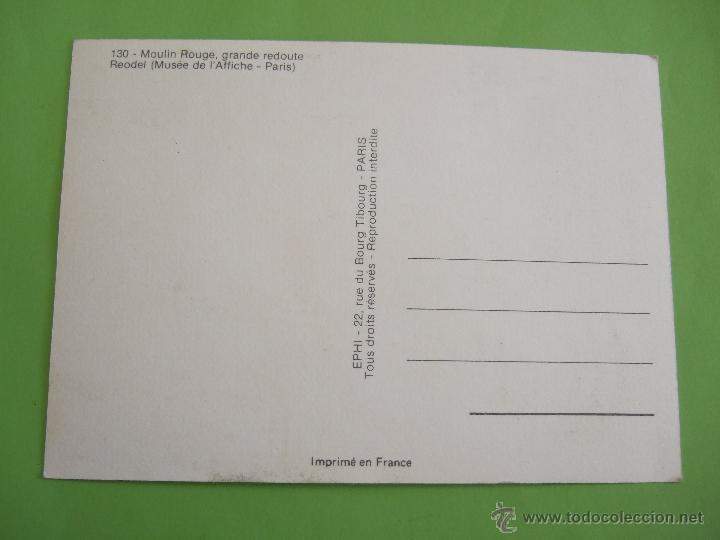 Postales: POSTAL EPHI 130 - MOULIN ROUGE (PARIS) - FRANCIA - Foto 2 - 49671535