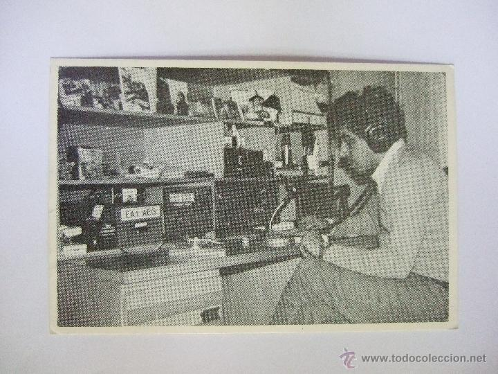 TARJETA RADIOAFICIONADO - MONFORTE DE LEMOS - LUGO - 1987 - FOTO DEL OPERADOR CON SU EQUIPO (Postales - Postales Temáticas - Especiales)