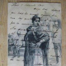 Postales: UNA MADRILEÑA - HAUSER Y MENET - CIRCULADA 1902 SIN DIVISORIA. Lote 50509796