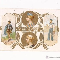 Postales: POSTAL CON PAN DE ORO / SIN USAR / PRINCIPIOS S.XX. Lote 50571973