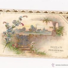 Postales: POSTAL FELICITO A VT. POR EL DÍA DE HOY / TROQUELADA / ESCRITA / PRINCIPIOS S.XX . Lote 50572193