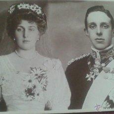 Postales: POSTAL FOTO REVERSO POST CARD, ENA DE BATENNBERG Y KING OF SPAIN, ALFONSO XIII. Lote 51461515