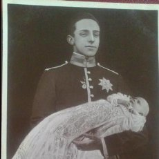Postales: POSTAL FOTO REVERSO POST CARD. H.M KING OF SPAIN & BABY, ALFONSO XIII. Lote 51461632