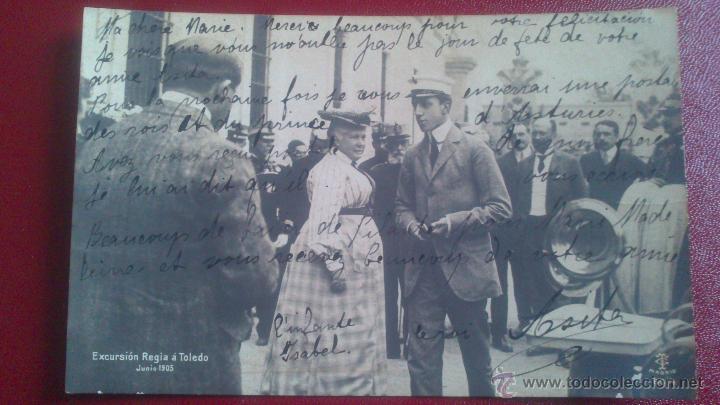 POSTAL FOTOGRAFICA, EXCURSION REGIA A TOLEDO, ALFONSO XIII Y LA CHATA, JUNIO 1905 (Postales - Postales Temáticas - Especiales)