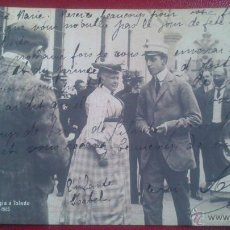 Postales: POSTAL FOTOGRAFICA, EXCURSION REGIA A TOLEDO, ALFONSO XIII Y LA CHATA, JUNIO 1905. Lote 51461896
