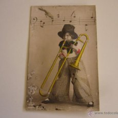 Postales: POSTAL SONORA. NIÑO CON INSTRUMENTO MUSICAL. Lote 51482048