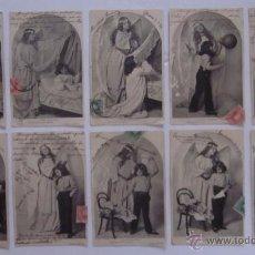 Postales: COLECCION 10 ANTIGUAS POSTALES - L'ANGE GARDIEN - EL ANGEL DE LA GUARDA. Lote 51595165