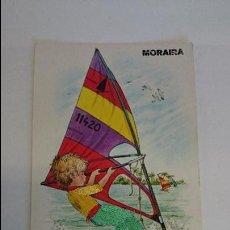 Postales: BONITA POSTAL BORDADA DE MORAIRA .. ESCRITA CON SELLO.. R-22. Lote 102391050
