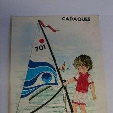Postales: BONITA POSTAL BORDADA DE CADAQUES .. ESCRITA, CON SELLO.. R-23. Lote 51609212