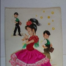 Postales: POSTAL BORDADA ANDALUCIA- INFANTIL, Nº6.. ESCRITA, CON 3 SELLOS.. R-38. Lote 51612572
