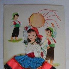 Postales: POSTAL BORDADA ANDALUCIA- INFANTIL, Nº1.. ESCRITA, CON SELLO.. R-39. Lote 51612611