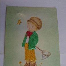 Postales: BONITA POSTAL BORDADA INFANTIL.. ESCRITA, CON SELLO.. R-45. Lote 51612895