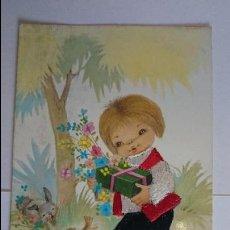 Postales: BONITA POSTAL BORDADA INFANTIL.. ESCRITA, CON SELLO.. R-47. Lote 51613010
