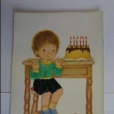 Postales: BONITA POSTAL BORDADA INFANTIL.. ESCRITA, CON SELLO.. R-49. Lote 51613058