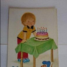 Postales: BONITA POSTAL BORDADA INFANTIL.. ESCRITA, CON SELLO.. R-50. Lote 51613080