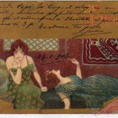 Postales: POSTAL MODERNISTA - MODERNISMO. ART NOUVEAU TIPO RAPHAEL KIRCHNER. Lote 51970635