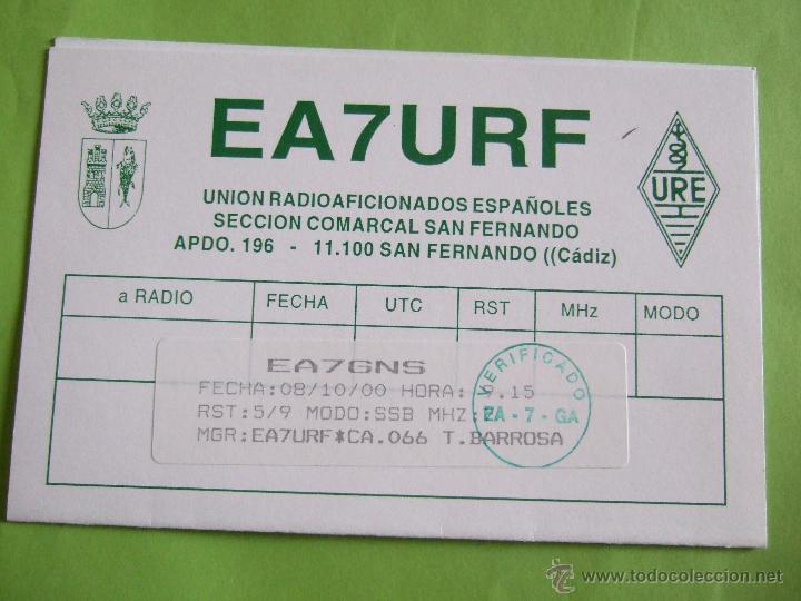 Postales: TARJETA RADIOAFICIONADO 2000 CADIZ - CONIL - Foto 2 - 52141262