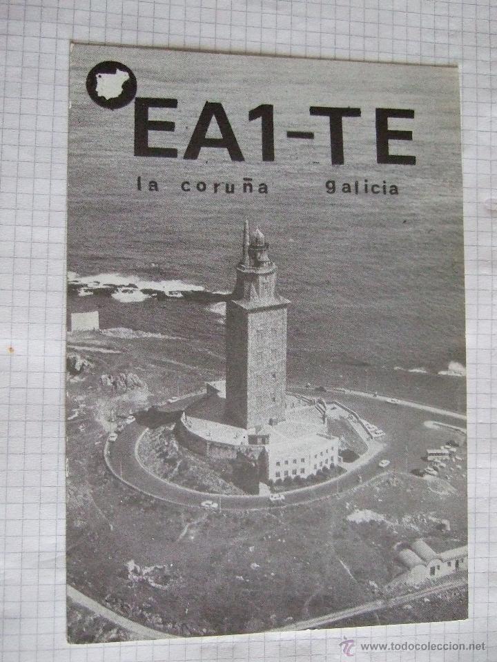 TARJETA RADIOAFICIONADO 1987 LA CORUÑA - FARO (Postales - Postales Temáticas - Especiales)