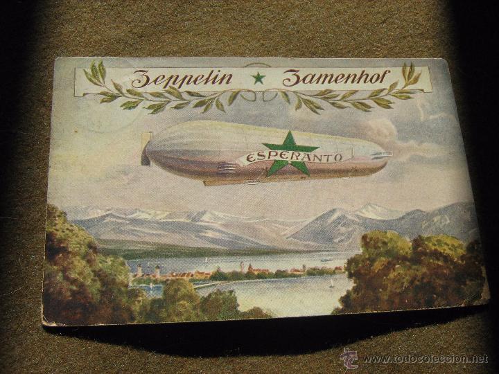 POSTAL ESPERANTO - ZEPPELIN - CIRCULADA DE ALEMANIA A SEVILLA EN 1910 - ESCRITA EN ESPERANTO (Postales - Postales Temáticas - Especiales)