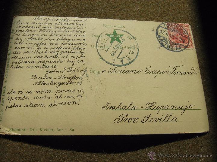 Postales: POSTAL ESPERANTO - ZEPPELIN - CIRCULADA DE ALEMANIA A SEVILLA EN 1910 - ESCRITA EN ESPERANTO - Foto 2 - 53204797
