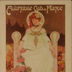 Postales: AUTOMOBILE CLUB DE FRANCE - POSTAL ORIGINAL ILUSTRADA POR PRIVAT LIVEMONT - 1903. Lote 53302719