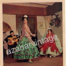 Postales: POSTAL PUBLICITARIA TABLAO ZAMBRA, FLAMENCO, HAUSER Y MENET, MUY RARA. Lote 53894038