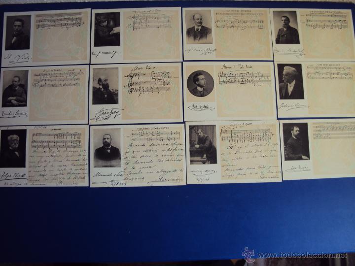 (PS-47852)20 POSTALES COMPOSITORES,COMPLETA,SINDICATO MUSICAL BARCELONES DOTESIO,AMADEU VIVES (Postales - Postales Temáticas - Especiales)