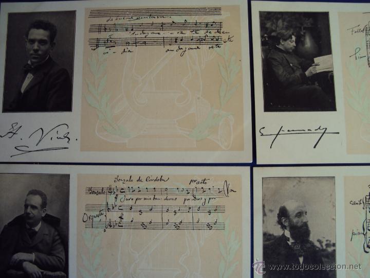 Postales: (PS-47852)20 POSTALES COMPOSITORES,Completa,SINDICATO MUSICAL BARCELONES DOTESIO,Amadeu Vives - Foto 2 - 54575291
