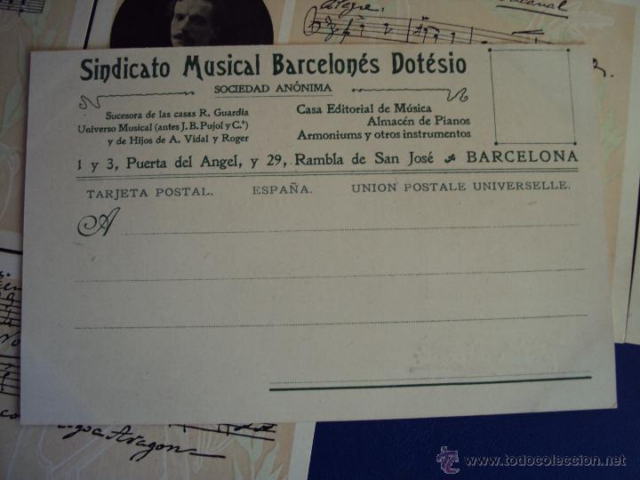 Postales: (PS-47852)20 POSTALES COMPOSITORES,Completa,SINDICATO MUSICAL BARCELONES DOTESIO,Amadeu Vives - Foto 7 - 54575291