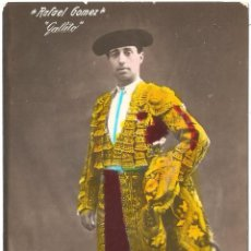 Cartes Postales: TOROS RAFAEL GÓMEZ GALLITO 1913. Lote 54851802