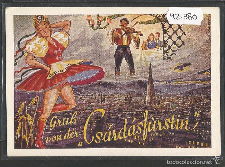 POSTAL ANTIGUA HUNGARIA RESTAURANT -VER REVERSO -(42.380) (Postales - Postales Temáticas - Especiales)