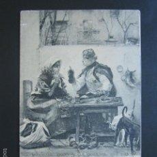 Postales: POSTAL EL CONSEJERO DEL BARRIO. HAUSER Y MENET. PRIMERA EDICIÓN. CIRCULADA. AÑO 1902. . Lote 56915262