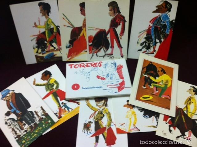 POSTALES CARICATURAS DE TOREROS (Postales - Postales Temáticas - Especiales)